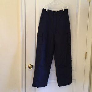 Boys size 14-16 navy snow pants